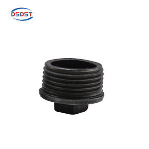 Iron pipe fittings beaded plugs black male thread plugs Industry end cap