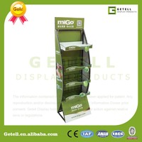 4 Layers Metal Shelves Display Standee Posm For Advertising And ...