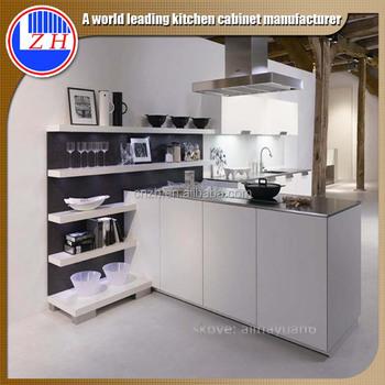 Zhihua Alta Lucida Armadio Da Cucina Bianco Design Per Piccola ...