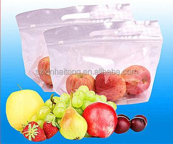 Transpa Fresh Fruit Zipper Packaging Bags Vegetables Plastic 30