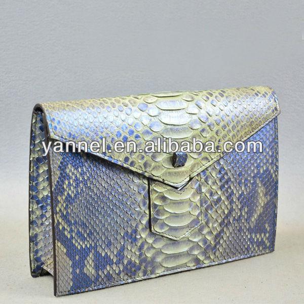 Damentaschen Luxus Damen 100% Echte Echtem Python Haut Kupplung Python Leder Clutch Abend Tasche Handtasche Gepäck & Taschen