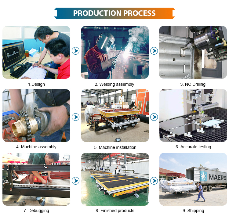 Semi-automatic glass cutting machine with multi cutter head