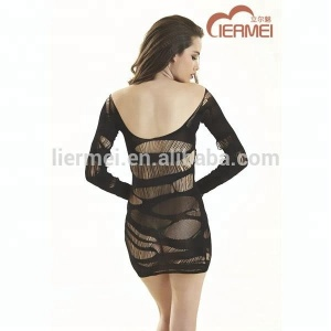 Seamless ladie's sexy dress full size long sleeve lingerie