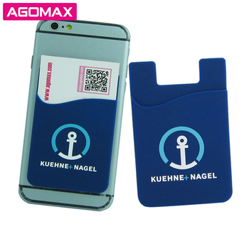 FREE SAMPLES Cell phone credit card holder 3M sticky silicone pocket plastic card wallet