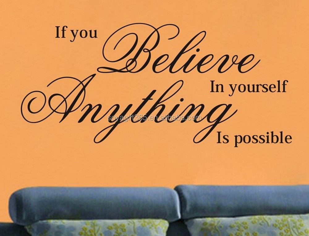 IF YOU BELIEVE IN YOURSELF Wall Art Quote Sticker Bedroom Lounge Vinyl Decal