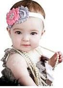 Smile Lovely Baby Girls Headbands Rhinestone Flower Headbands For Girls Infant Hair Band for kids HB318