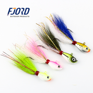 FJORD 10g to 10oz Saltwater Fishing Lures Minnow Bucktail Jig Head