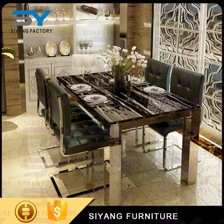 Precio bajo diseño de muebles mesa de comedor de mármol ... - photo#26