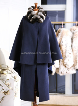 Trench Womens Winter Wool Cashmere Coat