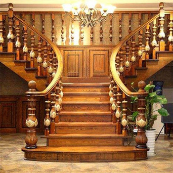 Bon Luxurious Wooden Stairway Rails Classical Solid Wood Staircase   Buy  Elegant Solid Wooden Stairs Staircase,Rubber Wood Staircases,Luxury Wood  Stairs ...