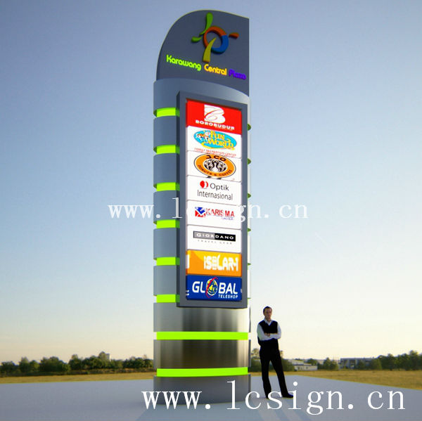 3d Outdoor Advertising Illuminated Pylon Sign Buy