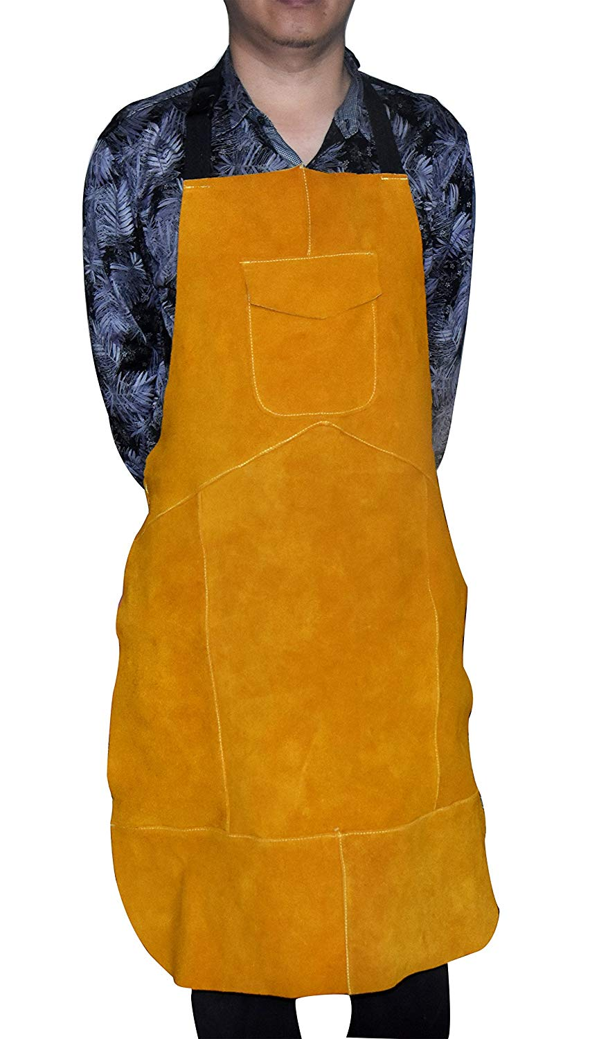 """Resistant Leather Welding Apron, 24"""" Width x 36"""" Height,"""