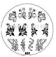 2015 new A Series A52 Nail Art Polish DIY Stamping Plates Image Templates Nail Stamp Stencil
