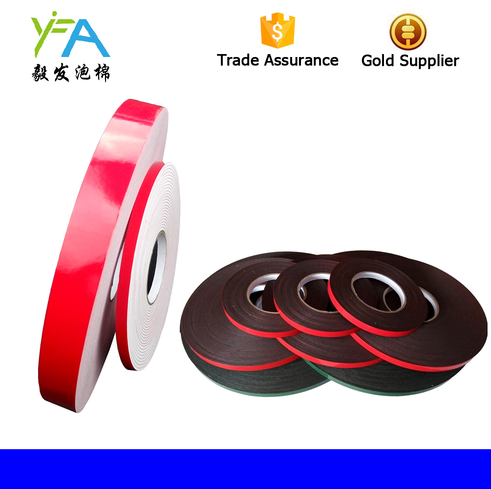 6-60mm*10m Strong Waterproof Adhesive Double Sided Foam Black Tape For Car ZJP