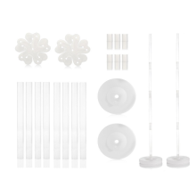 2 Sets Balloon Column Stand Kits 4 Feet Height AND 2lb Water Fillable Base, Free 2 PCS Balloon Flower Holder Clips
