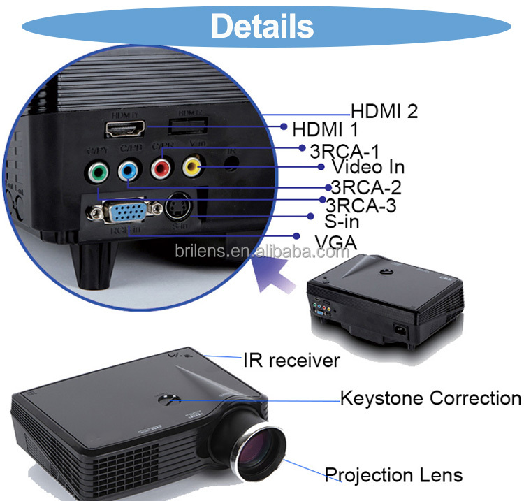 BRILENS BL960 960 * 576 LCD Projector Best Price for Now Cheap for Sale Mini LED Overhead Projector
