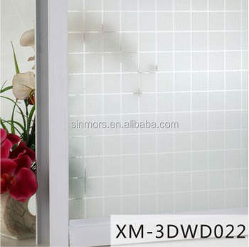 3dwd022 Square Removable Window Decal StickerSelf Adhesive Home