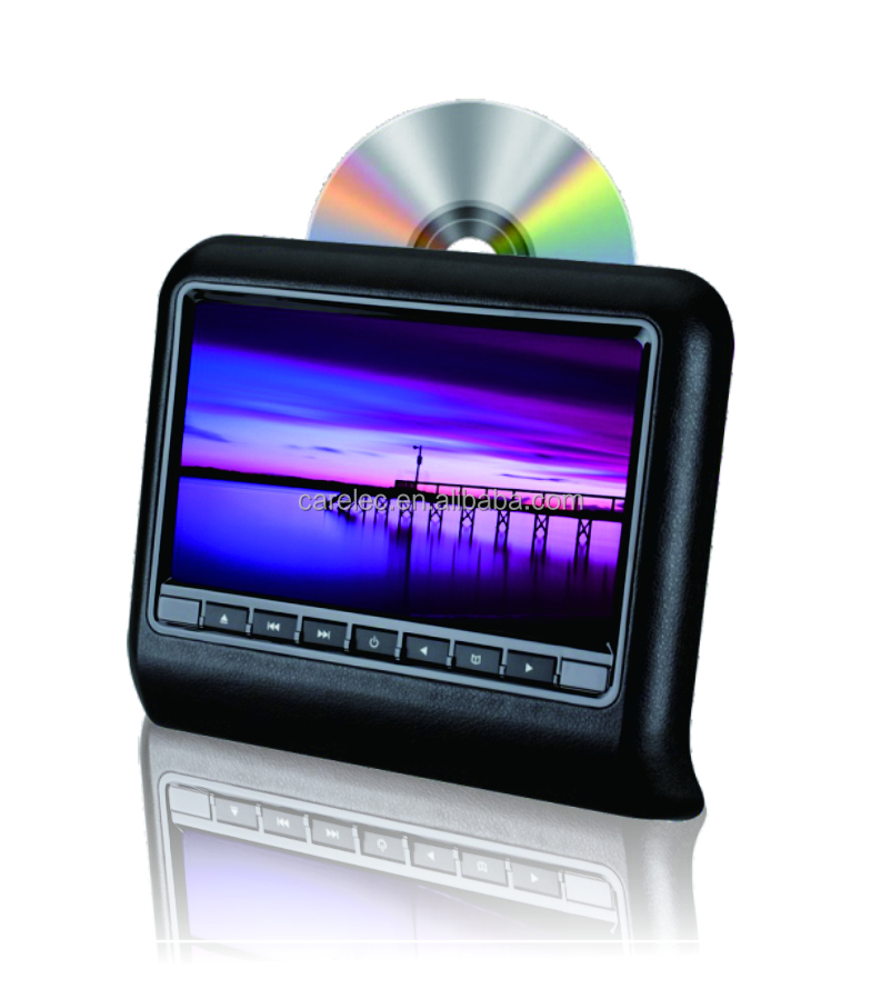 9 inches HD Headrest Monitor with slot-in DVD Player