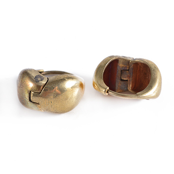 Whole Super Quality 21k Gold Plated Huggie Style Hoop Earrings For Man
