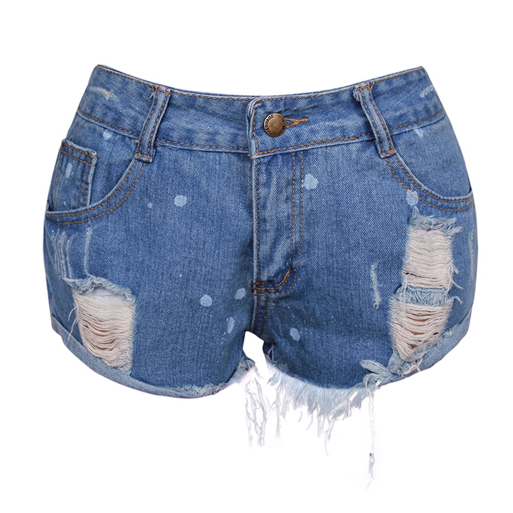 Fashion Clothing Women Cotton Denim Shorts
