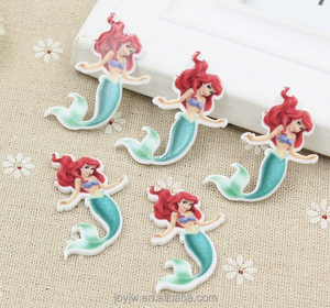 Acrylic Resin Mermaid Sticker/ornament/accessory/decoration hand phone sticker
