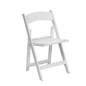 ZY39190 white wedding garden plastic folding chair
