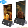 2017 Hottest Sale 4 USB Ports Table Stand Restaurant Holder Menu Power Bank