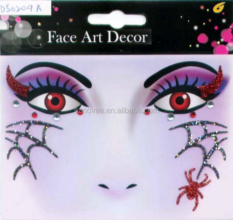 face art decor for halloween