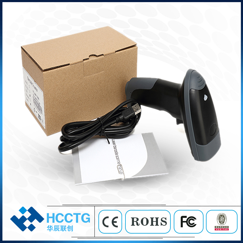 IP54 Warehouse Handheld Wireless 2D QR Code  Bluetooth Barcode Scanner With Memory HS-6413