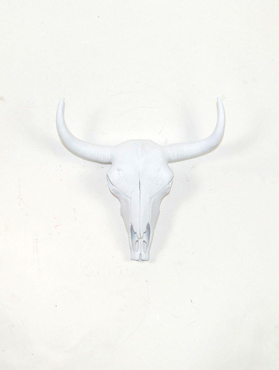 Buy The Ludmilla White Resin Buffalo Bison Skull Head
