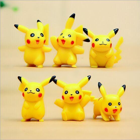Hot Hot 6 Pcs Pikachu Action Figure Kualitas Tinggi Kustom Lucu