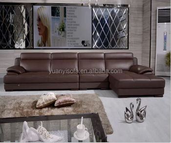 Yl7209 Best Modern Leather Sectional L Shaped Chesterfield Sofa