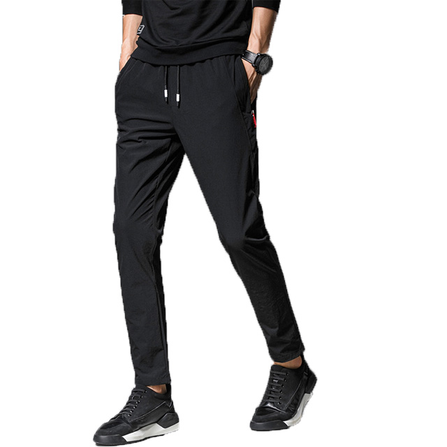 hot selling skinny fashion custom long fit casual nylon track pants men