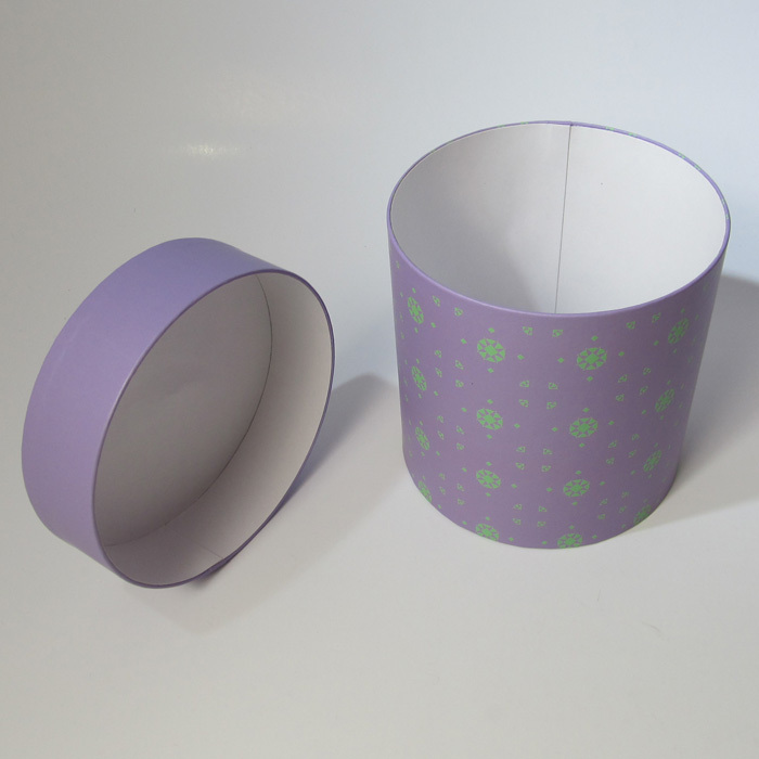 Custom 100% Recycled Paper Cardboard Round Packaging Box With Lid ...
