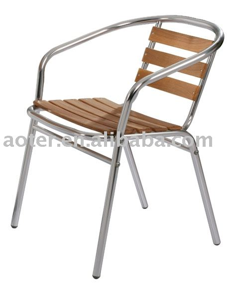 Aluminium Bois Bistro Chaise / Café Chaise - Buy Product on Alibaba.com