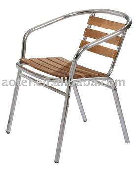Aluminium Wood Bistro Chair/cafe Chair