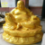 High quality Painting fiberglass Standing Buddha statues sculpture for temple decor
