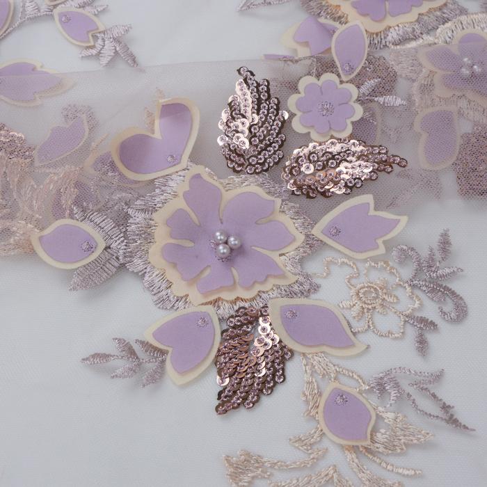 Harga Pabrik Gading Bergaris Bunga Bordir Payet Renda Kain Pasar Di Dubai