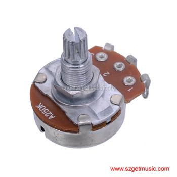 A250k Short Split Shaft 18mm Guitar Pots Potentiometer For Guitar Bass Part  Full Size - Buy 18mm Guitar Volume Tone Pots Potentiometer,Guitar Volume