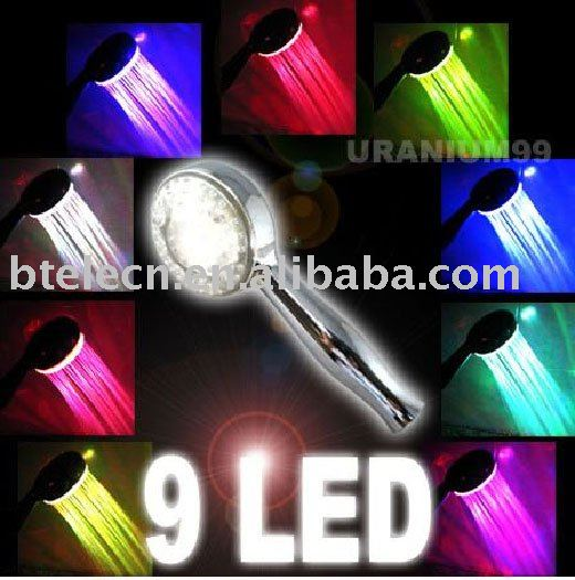 flash led shower head,light up shower head,colorful shower