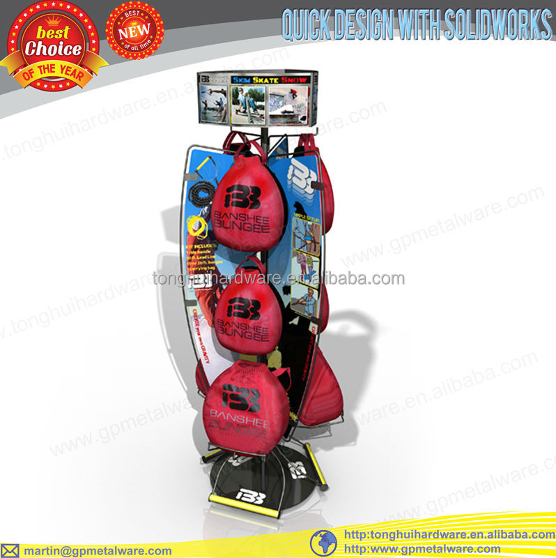 store display sports bungee goods display rack