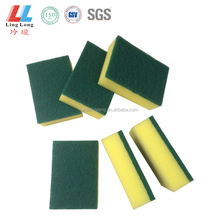 Basic green scouring pad kitchen sponge holder dish washing sponge