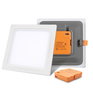 PC aluminum 16w embedded downlight 12w square ultra thin slim lamp 24w led recessed 6w panel light