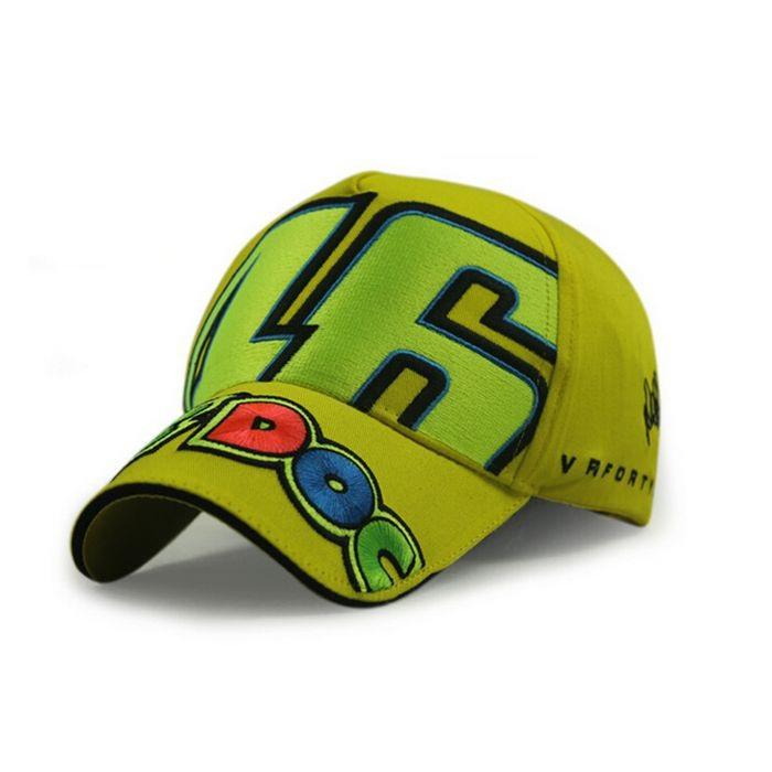 Get Quotations · Rossi Vr46 Racing Cap Moto Gp The Doctor Motorcycle Racing  Cap Black Yellow 100% Cotton b4c78b896b8