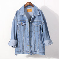 wholesale new fashion high quality 100%cotton women jean denim jacket