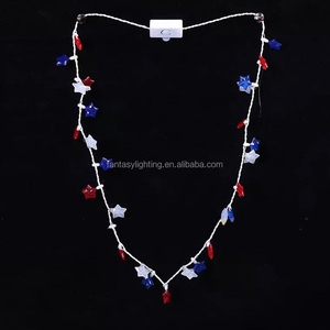 US America Independence Day Light up Flashing Necklace Decoration