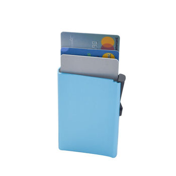 Travel durable blocking antitheft custom aluminum alloy rfid credit card holder metal