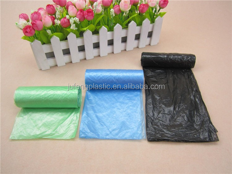 HDPE/LDPE red plastic t-shirt garbage/rubbish/refuse/trash bag in roll