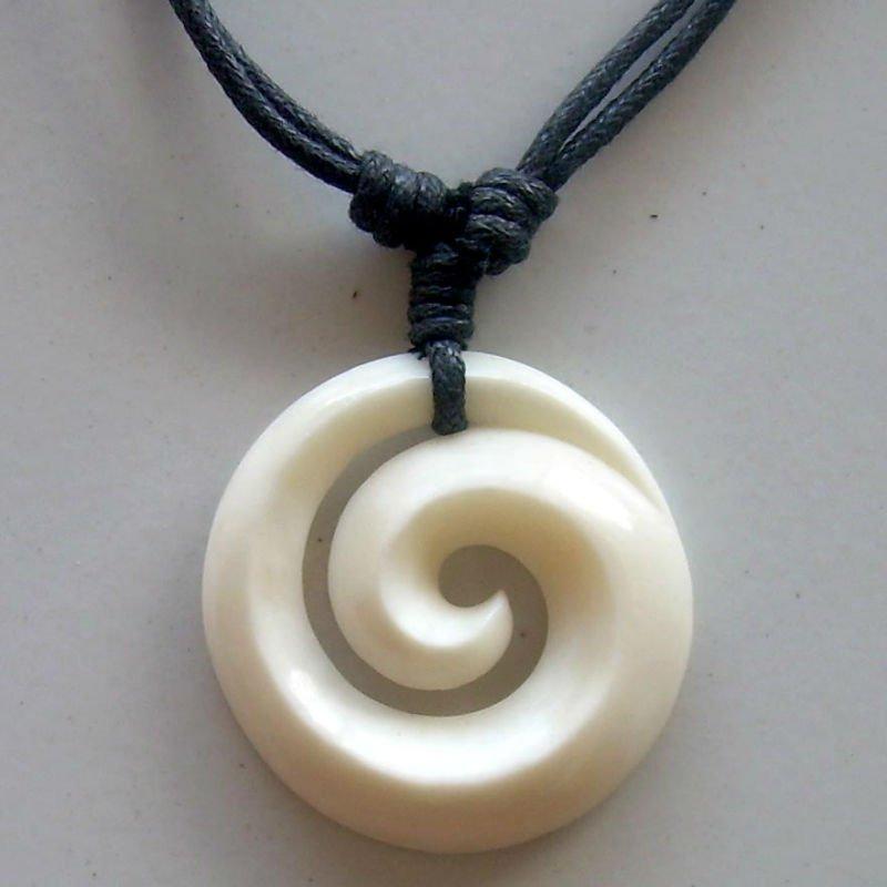 Bone Carving Koru Pendant For Necklace Maori Design Buy Bone Koru Pendant Product On Alibaba Com