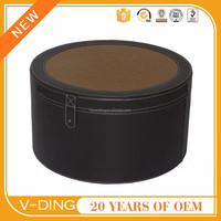 VDING circular leather multifunction home straw mats patterns storage bins with lids storage box professional manufacturer of c